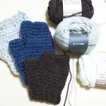 かぎ針でハンドウォーマーを簡単に編む方法は?どれくらい毛糸必要?