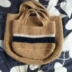 麻ひもでミニトートバッグが簡単に編めるって本当?どうやって?②